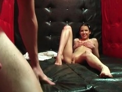 In this live college sex movie u'll watch a barefaced brunette hair engulfing off her groupmate at sauna party.