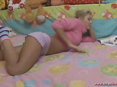 Olya sits in daybed in a pink sweater and pages throughout a book whilst this babe waits for her guy to show up. SheтАЩs horny and getting a little despairing for raunchy release. HeтАЩs the solely one that can bring her the joy that babe seeks! After awaiting too lengthy this pretty teenager pulls her pants off and masturbates, juicing up her fur pie for when this chab shows up. The muscular youthful guy lastly comes into the bedroom and out of saying much this guy plays with her bawdy cleft, generating even more sloppy wetness down there so the two of 'em can truly engage in the bawdy play they dream of. SheтАЩs going to have great legal age teenager sex and that tanned and constricted body looks outrageously sexy throughout. Her tummy is utter perfection! The sweater fetish fans will be delighted to know that that babe keeps it partially on throughout the set. The last position is her on top riding hard and that babe looks so great as that babe really bounces hard.