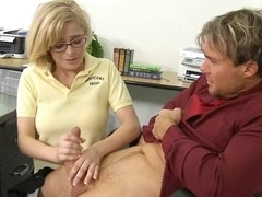 Schoolgirl widens her legs for her first aged dick