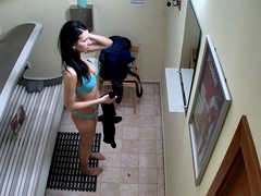 Here is the first hidden camera in solarium!! U havent seen this in advance of! We breached into the privacy of Czech beauty. Real footage from a spy camera in solarium!