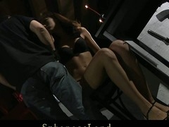 Unlucky day for serf angel Aspen Richardson. Her Slavemaster has a large mood for a painful sadomasochism. Hard spanked, whipped and fingered this babe is complete dominated and used below his kinky control